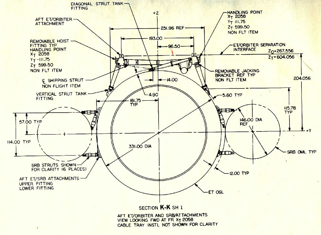 space shuttle dimensions - photo #20